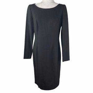 Escada Fine Wool Long Sleeve Sheath Dress 38/8/M
